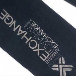 Armani Exchange Shirts - ARMANI EXCHANGE Logo Spellout Black Long Sleeve XL